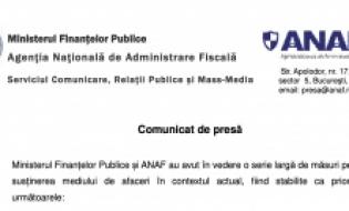 Comunicat de presă ANAF - Termen depunere declarații fiscale